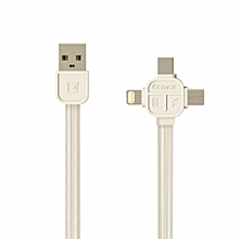 Remax RC-066th Lesu series 3 in 1 MicroUSB + Lightning Adaptor + Type-C Adapter Data Cable For iOS Device VVAXIANG