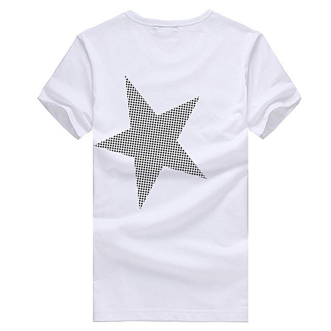293190a1fc2 5XL Men O-neck T shirt 2018 Summer fashion Printed pattern mens slim t  shirt Plus size casual cotton t shirt men for boy-white10