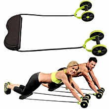 Multifunctional Abdominal Wheel Resistance Pull Rope Intensity Adjustable Muscle Fitness Equipment