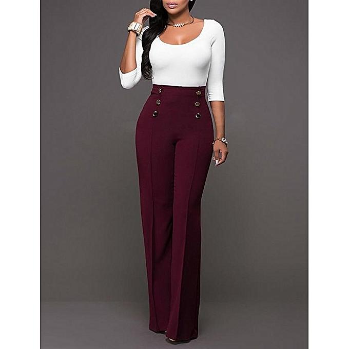 Fashion High Rise Piped Dress Pants Elegant Pants Women ...