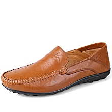 Men Formal Genuine Leather Casual shoes Loafers Brown
