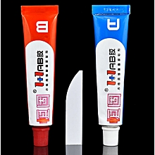 2 pieces AB Modified Acrylate Adhesive Glue Super Stick Sticky Shoes Leather Repair Tool