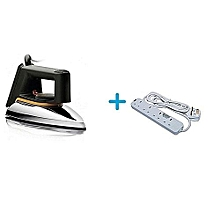 Dry Iron Box No.1 + a FREE Heavy Duty 4-Way Socket Extension Cable