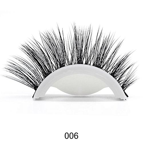 5fade6c99ae Generic 3D Mink Reusable Self-adhesive False Eyelashes Natural Curly Thick No  glue Fake Eyelashes Make-up Tools Eye Lashes Extension(6)