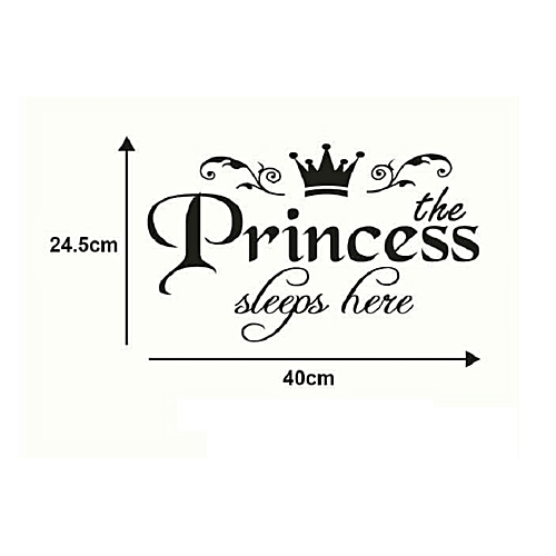 The Princess sleep here Wall sticker