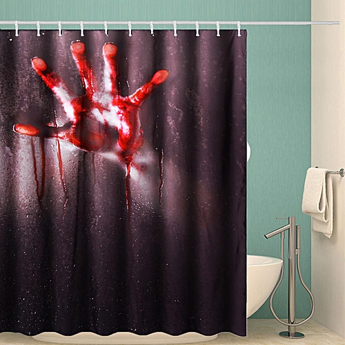 71 Halloween Scary Bathroom 3D Printed Shower Curtain Polyester With