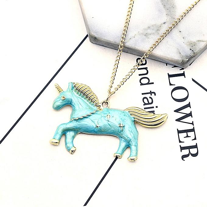 buy generic fashion simple pegasus necklace alloy pendant necklace