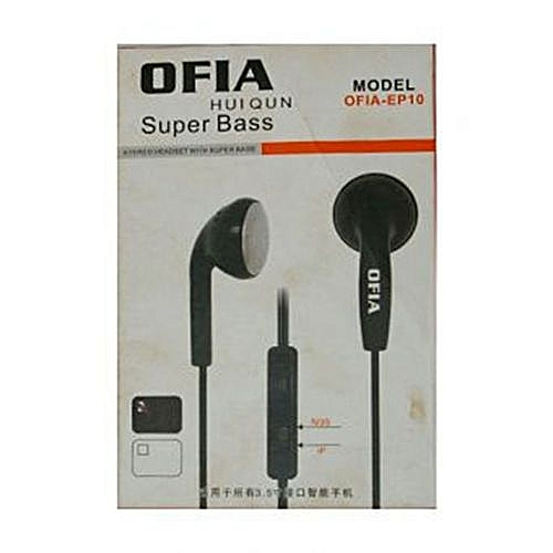 Black Superbass Earphones -Ofia Huiqun