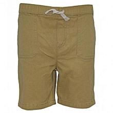 Beige Kids Shorts