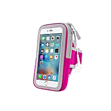 Multifunctional Outdoor Fitness Sports Arm Band Phone Holder Bag for iPhone 8-Rose Red