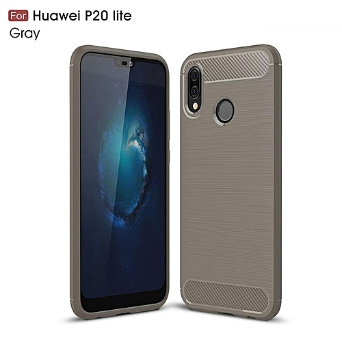 best deals on 2c33b f78f4 For Huawei P20 Lite High Quality Soft Rugged Armor Case Carbon Fiber  Brushed TPU Shockproof Case/Ultra-thin Full Protection Anti-Scratch Back ...