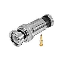 BNC 75-5 Male Compression Connector Copper RG59 Male Plug Cable Connector