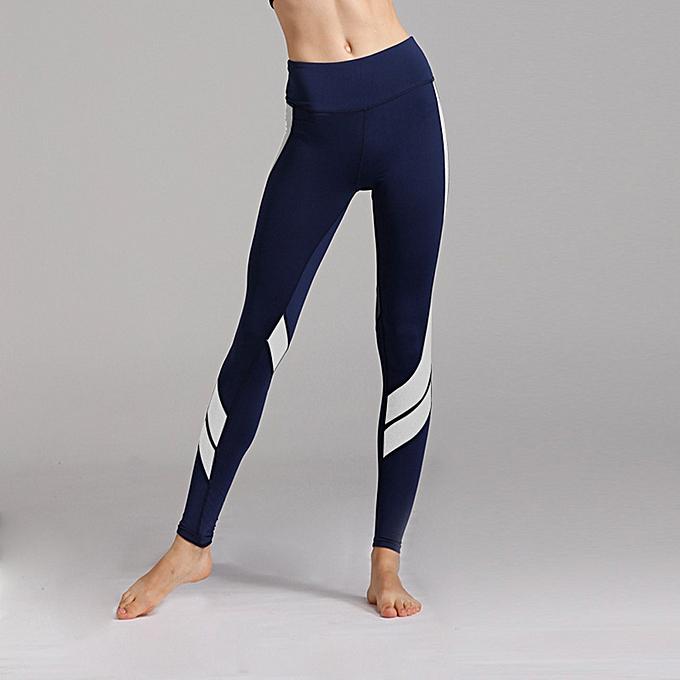 94e0ebc9d Generic Women Sports Yoga Pants Leggings Color Block Gym Fitness Workout  Tights Trousers Skinny Leggings Brown White Grey