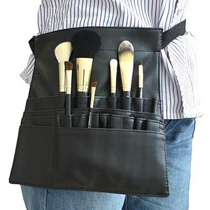 b2a40aacc072 22 Pockets Professional Cosmetic Makeup Brush Apron Bag Artist Belt Strap  Holder