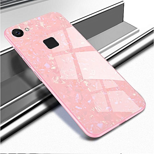 premium selection 0f04f b2d66 For VIVO V7 Luxury Hard Tempered Glass Case Marble Shell Pattern Design  Glass Back Cover For VIVO V7 Housing