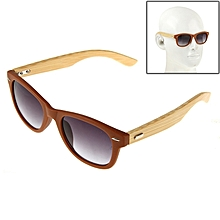 Wood Arm Resin Lens Sunglasses For Outdoor Sports(brown)