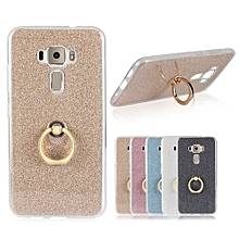 Mooncase Case For Asus Zenfone 3 ZE520KL Glitter Bling Prints Flexible Soft TPU Protective Case Cover With Ring Holder Kickstand Gold