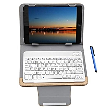 3 In 1 Universal Bluetooth Keyboard Tablet Case 9 / 10 Inch - golden