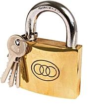 Padlock -  Size 50mm  NO 265 3 keys