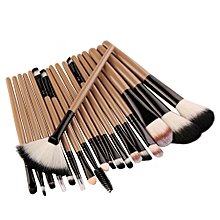 Africanmall store 18 pcs Makeup Brush Set tools Make-up Toiletry Kit Wool Make Up Brush Set CO-Coffee