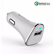 Qualcomm Certificated QC3.0 15W Quick Fast 9V 2.5A 5V 3A Vehicle Car Charger WH