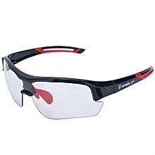 Outdoor Sports Windproof UV Protective Mountain Bike Cycling Glasses (Red)