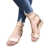 Generic Women Ladies Summer Roman Shoes Buckles Wedges Ankle Strap Sandals A1