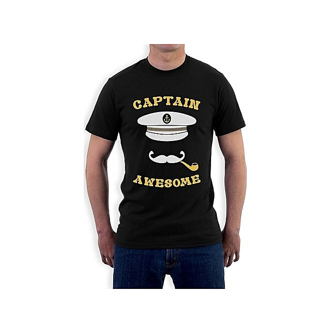 73644ac1 Captain Awesome - Fishing Boat Cool Fisherman Sailing Men's Funny T-Shirt