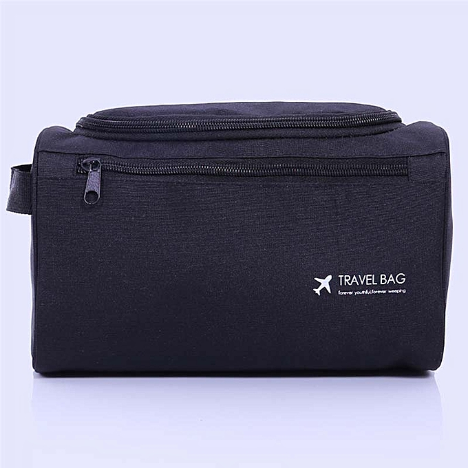 3d137248ae09 Woman Cosmetic Bags Organizer Makeup Bag Folding Travel Toiletry Bag Large  Capacity Waterproof Storage Beauty Bag-black