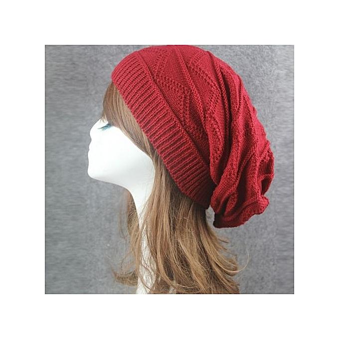 3b87195ce16 Eissely Men Women Winter Fluff Crochet Hat Wool Knit Beanie Warm ...