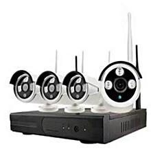 4ch 720P cctv camera kit wifi ip kit wireless nvr kit wifi ip kit security cctv kit plug and play