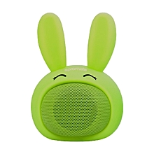 BUNNY -Green Kids Bluetooth Speaker, Wireless with Hands-free call function and Cute Bunny Design for Entertainment