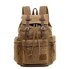AUGUR New Fashion Men's Backpack Vintage Canvas Backpack School Bag Men's Travel Bags Large Capacity Travel Backpack Camping Bag(Brown)