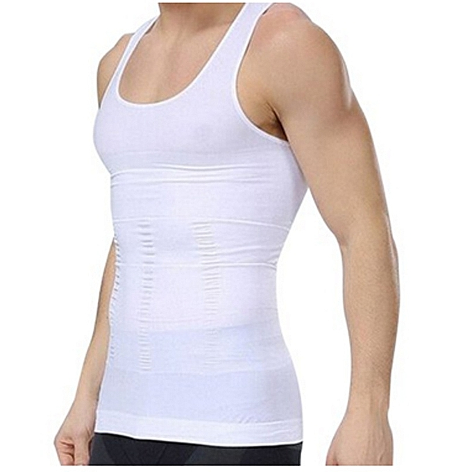 Men Stretchy Firm Tummy Belly Control Man Slimming Body Shaper Vest Undershirt