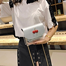 koadong shop Fashion Women Hit color Transparent Crossbody Bags Shoulder Bag+Clutch Wallet