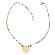 91a3bc923c0 Gold Silver Tone Love Heart Ankle Bracelet Single Layer Chain Sexy Foot  Anklet