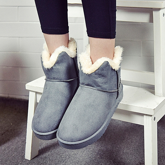 89bc5706d815 ... Women Snow Boots Ankle Boots Warm Winter Boots Woman Shoes GY 36-Gray  ...