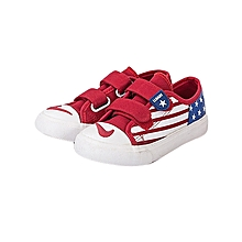 Red boys' sneakers