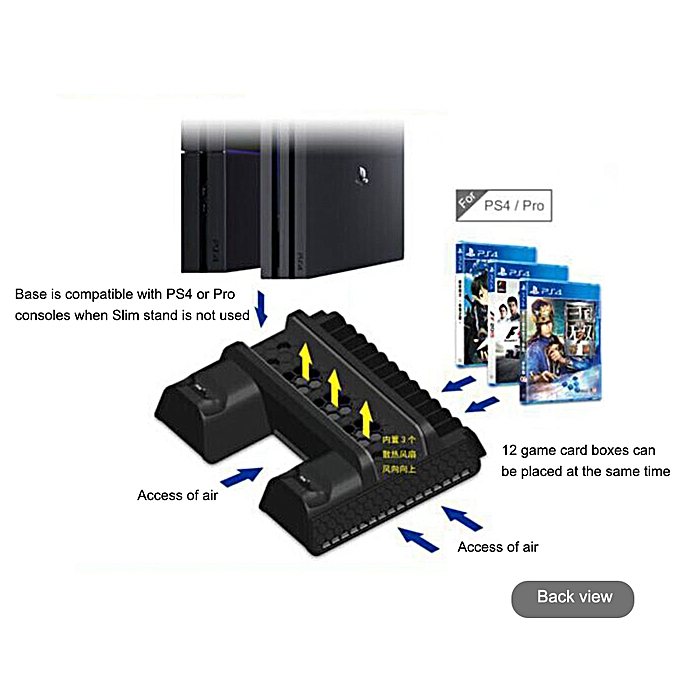 PS4 SLIM PRO Cooler Multifunctional Cooling Vertical Stand
