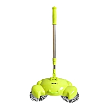 Floor Sweeping Machine Without Electricity Cleaner Adjustable Handheld Sweeper green