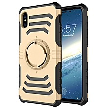 Sharp Sword Pattern Case for iPhone XS Max, with Armlet (Gold)