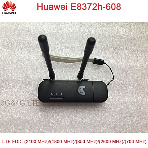 (+2pcs antenna )Unlock Huawei E8372 E8372h-608 black color with antenna LTE  USB Wingle LTE Universal 4G USB WiFi Modem
