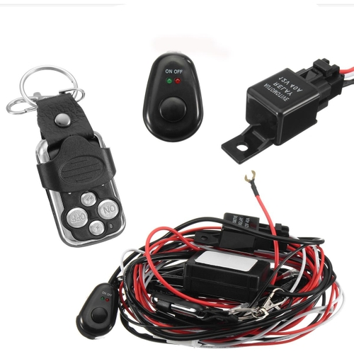 generic 12v wiring harness kit strobe remote control switch for led