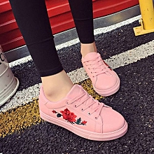 Fashion Women's Straps Sports Running Sneakers Embroidery Flower Shoes PK/36-Pink  -CN SIZE