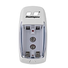 TA Universal 2 Slots AA AAA 9V Battery Charger Charging For Rechargeable Battery -white