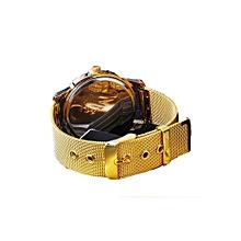 1 pcs Classic Watch Womens Wrist Quartz Watch Dress Watch Gold Color-Gold