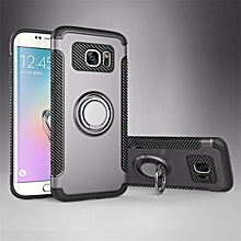 KZ Slim Fit Hybrid Dual Layer Armor Shock Absorption Rugged Defender with Ring Holder Kickstand Drop Protection Soft Rubber Bumper Case Cover for Samsung Galaxy S7 Edge  XYX-S