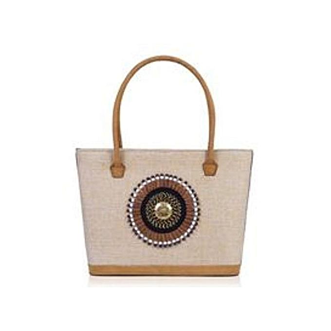 MAASAI COLOUR Cream Seregetti Jute handbag   Best Price   Jumia Kenya e49a9d4403