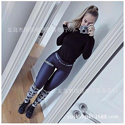 1739a6d7b205 Glorystar Hotting Yoga Pants Fitness Leggings Sports Elastic Breathable  Female Tights Running Sexy Slim Crackle Printed KUA
