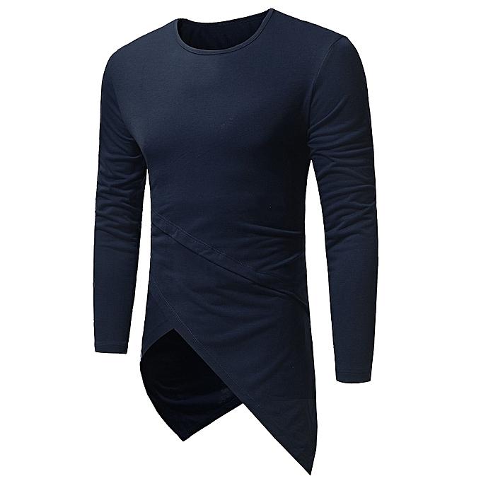 9c9c76f5934 Fashion Leadsmart Crew Neck Long Sleeve Asymmetric Longline T-Shirt ...